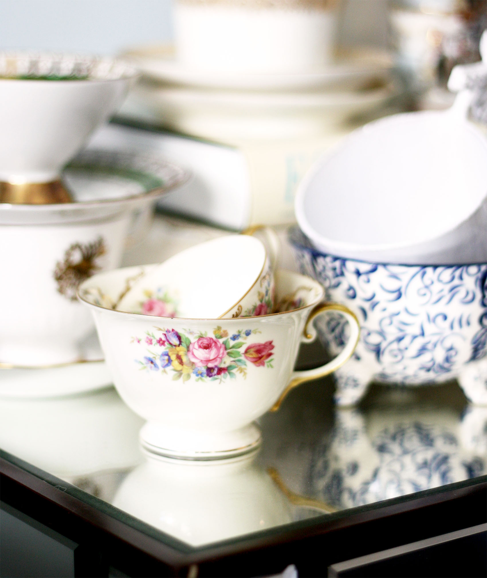 vintage tea cup from germany | via @victoriamstudio